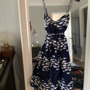 Jcrew school of fish dress size 2